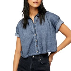 NWT Free People Weekend Rush Henley T-Shirt